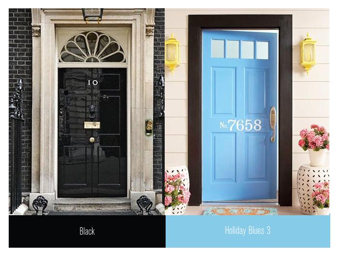 front doors black blue
