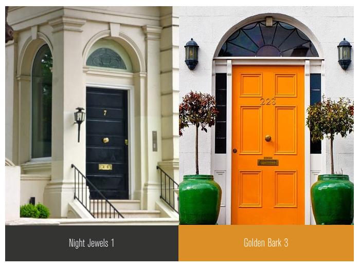 front doors inspiration orange black