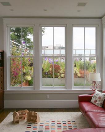 sash windows living room