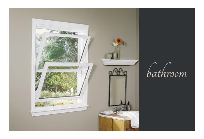 bathroom idea with sash windows