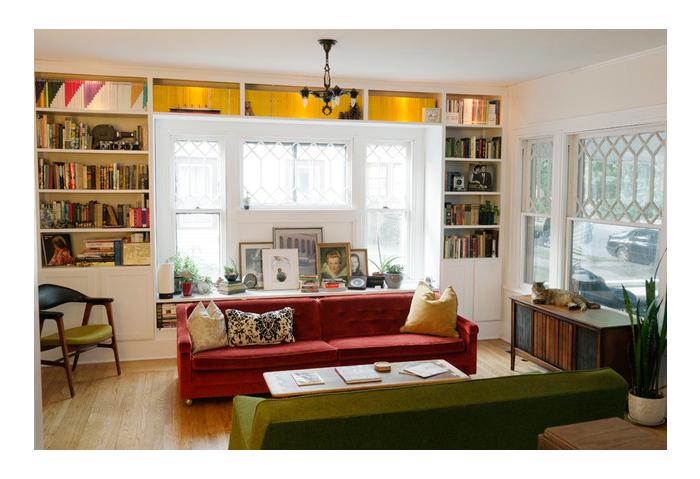 sash windows london - living room