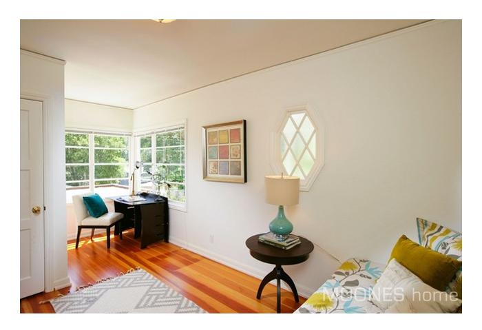 sunny room with sash windows