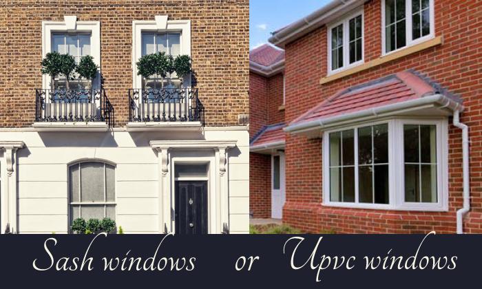 wooden sash windows or upvc windows