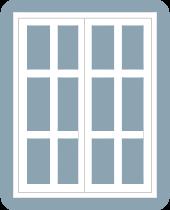 casement window double frame 6x6