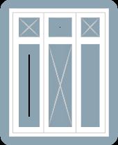 casement window triple center top lights fixed