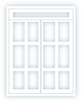outward opening french door with top lights 6x6